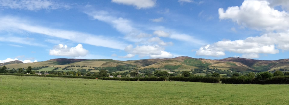 Views of the Clwydian Range